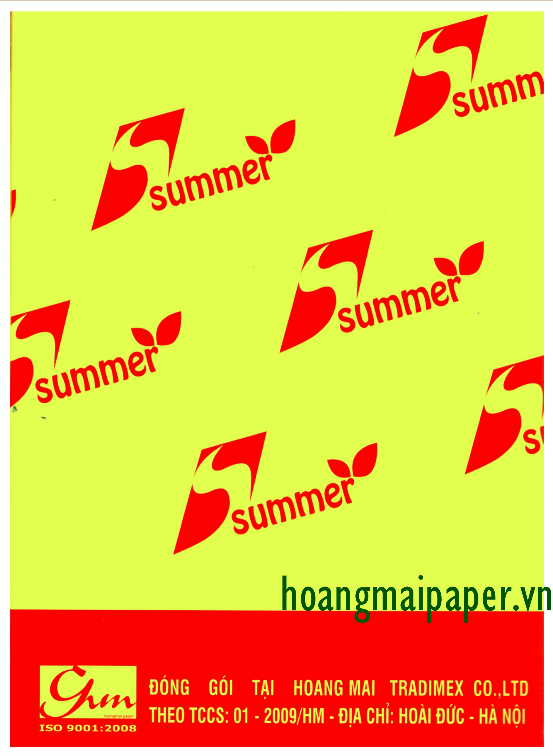SUMMER Colored Copy Paper